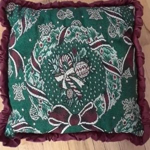 Other - Holiday tapestry pillow